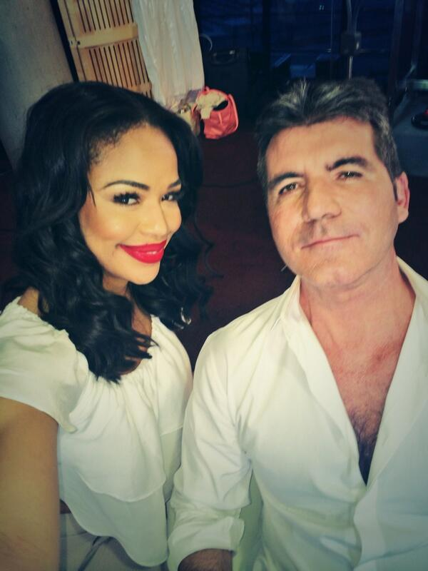 simon cowell with sarah-jane Crawford